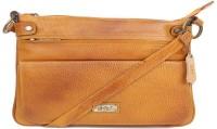 Bessel Women Tan Genuine Leather Sling Bag