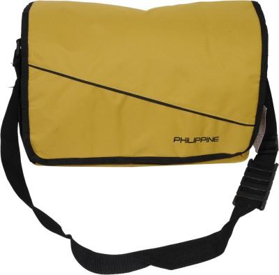 Philippine Men Yellow Polyester Shoulder Bag