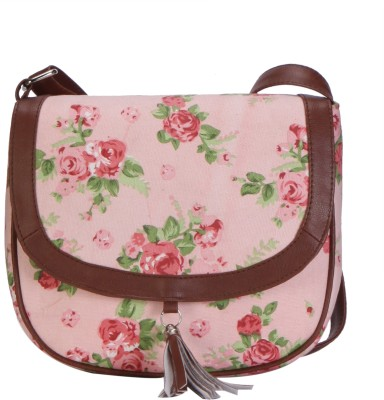 Lychee Bags Women Pink, Green Canvas Sling Bag