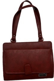 Galore Girls, Women Brown Leatherette Shoulder Bag