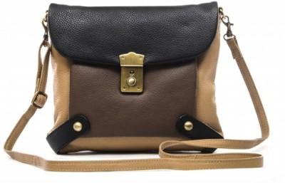 Sophia Visconti Girls Yellow Genuine Leather Sling Bag