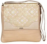 Sunbeams Women Gold Silk Sling Bag