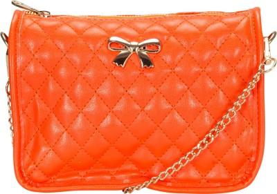 Alanna Women Casual Orange PU Sling Bag