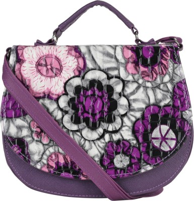 Coash Women Purple Cotton Sling Bag