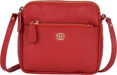 Eske Girls Red Genuine Leather Sling Bag
