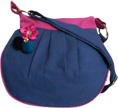 Fly Angels Women Blue Canvas Sling Bag