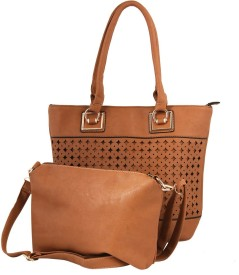 GIHAAN Girls, Women Brown PU Shoulder Bag