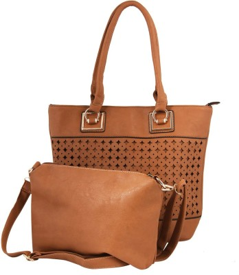 Gihaan Girls, Women Brown PU Sling Bag