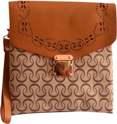 Basta Girls Brown PU Sling Bag