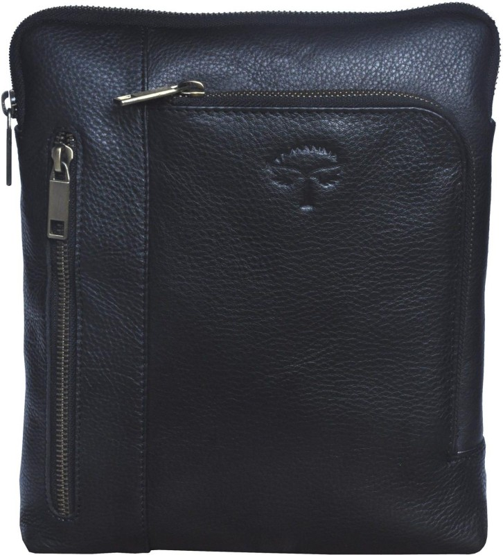 Tamanna Men   Women Black Genuine Leather Sling Bag 84068ed7eb634