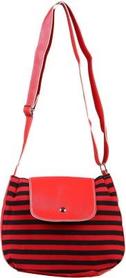 FabSeasons Women, Girls Casual Red Cotton Sling Bag