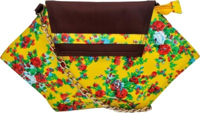 Stylocus Women Casual Yellow Cotton Sling Bag