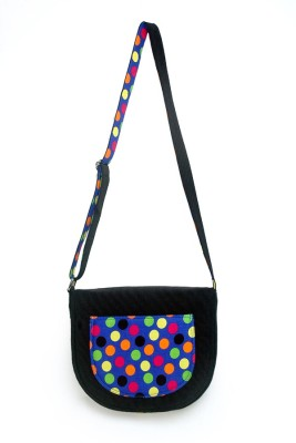 Allmine Girls Casual Black Nylon Sling Bag