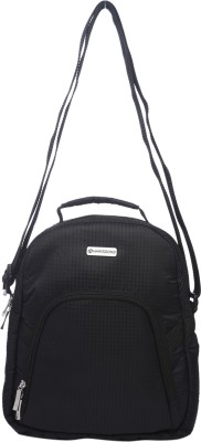 Harissons Men, Women Casual Black Nylon Sling Bag