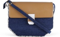 Zaera Women Blue PU Sling Bag