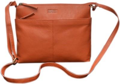 Le Craf Girls Casual Orange Genuine Leather Sling Bag
