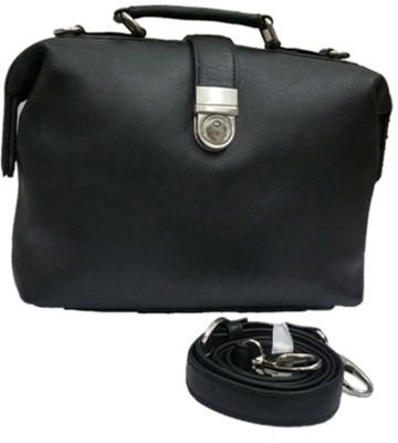 Berries Girls, Girls Black Genuine Leather Sling Bag