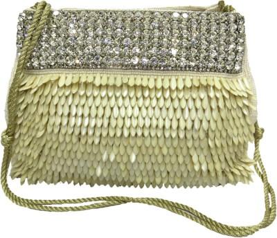 Kawaii Women Beige Beads Shoulder Bag