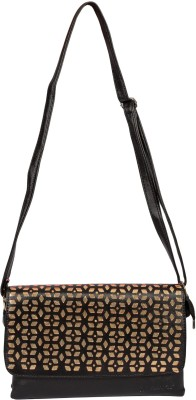 Starz Women Casual Black PU Sling Bag