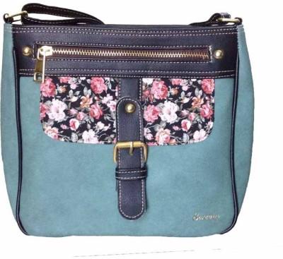 Sweera Women Green PU Sling Bag