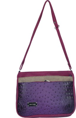 Kshipra Fashion Girls, Women Purple, Pink Leatherette Sling Bag