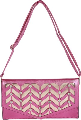 Jolie Women Pink PU Sling Bag