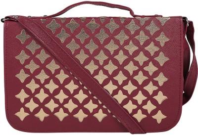Coash Women Maroon PU Sling Bag