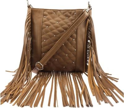 Osaiz Girls Brown PU Sling Bag