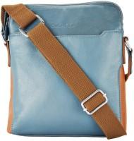 ColorPlus Men Blue Genuine Leather Sling Bag