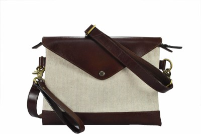 Delphi Girls Casual Brown Genuine Leather Sling Bag
