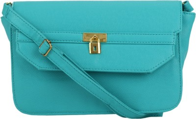Stileapp Women Green PU Sling Bag