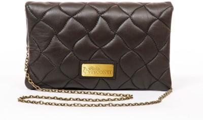 Sophia Visconti Girls Casual Brown Genuine Leather Sling Bag