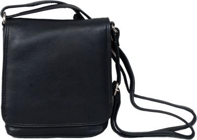 Manera Women Black Genuine Leather Sling Bag