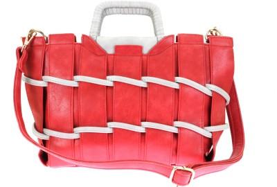 velina Women Red PU Shoulder Bag