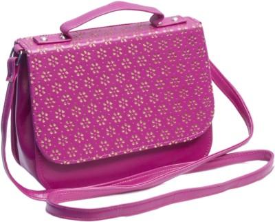 Voaka Girls, Women Pink, Gold Leatherette Sling Bag