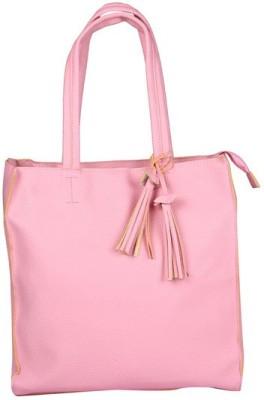 Fiza Women Pink Leatherette Shoulder Bag