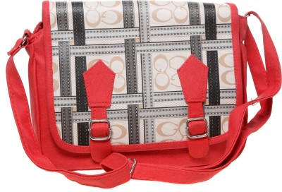 Tripssy Women Red Leatherette Sling Bag