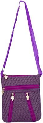Glitters Girls Casual, Formal Purple Rexine Sling Bag