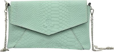 Le Craf Girls Casual Green Genuine Leather Sling Bag