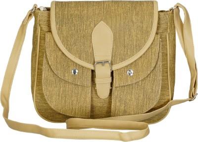 Belladona Women, Girls Beige PU Sling Bag
