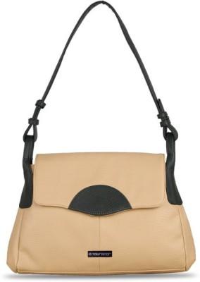 Touristor Women Beige Leatherette, PU Sling Bag