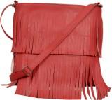 Speed Dot Women Orange Rexine Sling Bag
