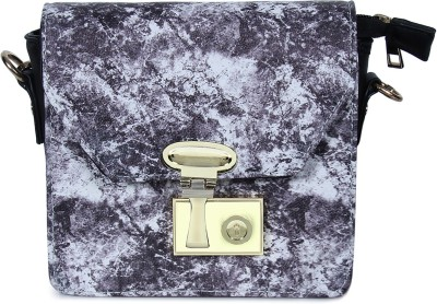 Colors Inc. Women Grey Leatherette Sling Bag