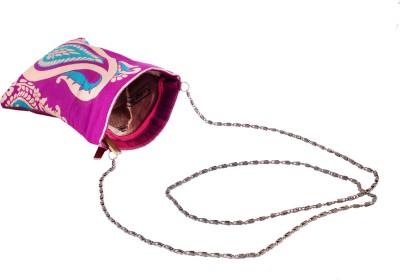 Angelfish Girls Casual Pink Brocade Sling Bag
