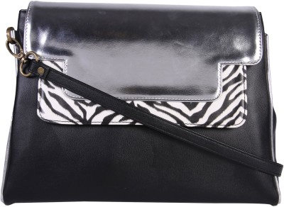 Zaera Women Black PU Sling Bag