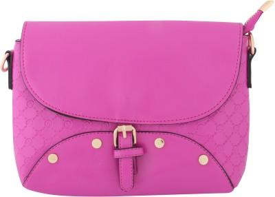 Priya Exports Women, Girls Pink Leatherette Sling Bag