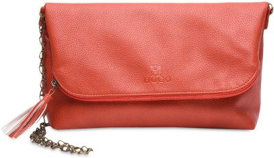 Hogo Girls Casual Red Polyester Sling Bag
