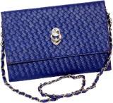 D Jindals Women Formal Blue PU Sling Bag