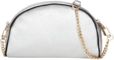 Cappuccino Girls Silver PU Sling Bag
