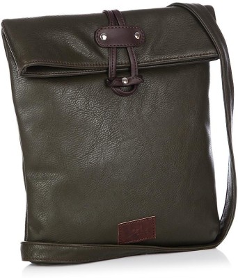 Yelloe Girls Casual Green Genuine Leather Sling Bag